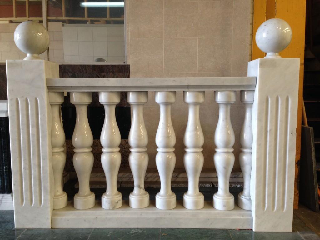Bianco Carrara C Balustrade