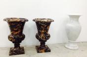 Black & Gold Vase. Bianco Carrara Vase.