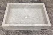 Carrara Marble Rectangle Sink 450 x 650