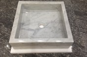 Carrara Square Sink 450 x 450