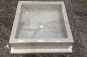 Carrara Square Sink 450 x 450
